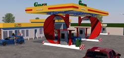 Rendering of filling station