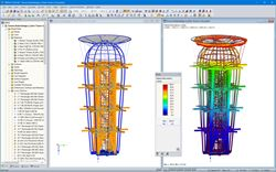 Model of the structure Ester Tower in RFEM