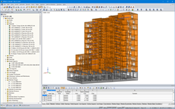 RFEM model of the residential building