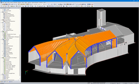 3D Model of Mountain Hut in RFEM (© LignoAlp)