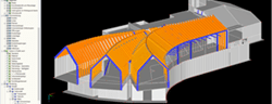 3D model of alpine hut in RFEM (© LignoAlp)