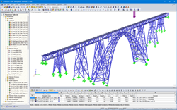 3D model of the Müngsten Viaduct in RSTAB (© PSP)