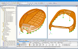 3D models of two pavilions in RSTAB (© Blumer-Lehmann AG)