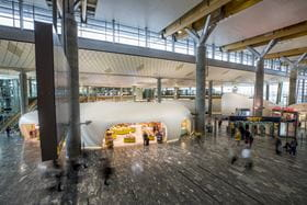 Finished Pavilion in Terminal of Oslo Gardermoen Airport (© Blumer-Lehmann AG)