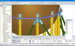 Detail of braces in RFEM
