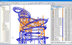 RFEM Model of Sky Walk in Dolni Morava