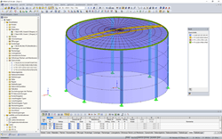 3D-Modell eines Wassertanks in RFEM (© Rocky Summit EC)
