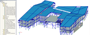 Modelo 3D da escola no RFEM (© DBC AS)
