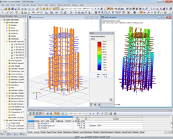 3D model of look-out tower and deformation in RFEM (© Harrer Ingenieure)