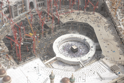 View of construction site of Holy Mosque expansion (© GHI)