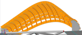 RFEM model of Amphitheater in Bytom, Poland