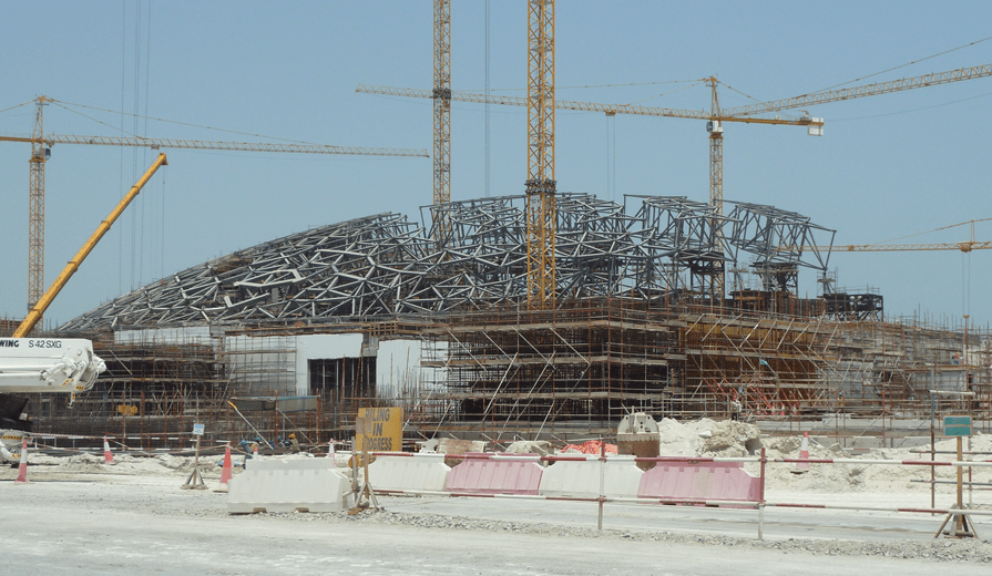 Dome of Louvre in Abu Dhabi, United Arab Emirates