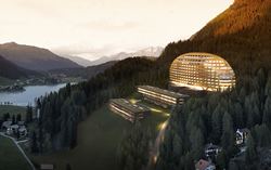 Project visualization of Hotel Intercontinental in Davos (© Sailer Stepan & Partners)