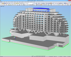 Spatial model of hotel in RFEM (© Sailer Stepan & Partners)
