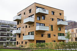Exterior view of Woodcube (© Isenmann Ingenieure)