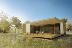 "The ""AIR House"" of the CTU student team at the Solar Decathlon 2013"