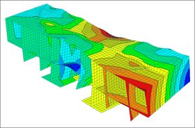 Supporting structure parts in RFEM (© Jörg Sando)