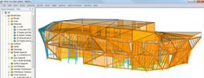 RFEM Model of Wood Carving Workshop,Italy