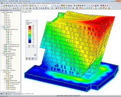 Model with deformation visualized in RFEM (© in.ge.na.)