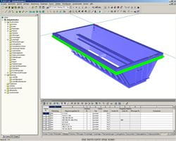 3D model of feed hopper in RFEM (© IB Ehlenz)
