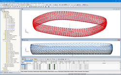 3D beam structure model of Allianz Arena in RSTAB (© IPL GmbH)