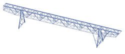 RSTAB model of crane bridge (© IB Burgdorf GmbH)
