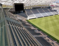 Blick in das Stadion des Los Angeles Football Club (© Trex Commercial Products)