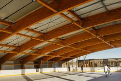 Roof Structure of the Open-Air Skating Rink, Pasta Island, Jelgava, Latvia (© Rodentia SIA)