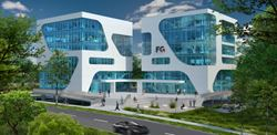 3D Rendering of the Two FC Campus Buildings (© 3deluxe)