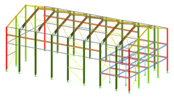 3D Hall Model in RFEM (© Albyr)