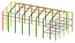3D model of the building in RFEM (© Albyr)