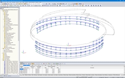 Facade Supporting Structure in RFEM (© Enclos Corp.)