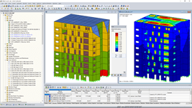 High-Rise Building RFEM Model (© Ingénierie Bois)