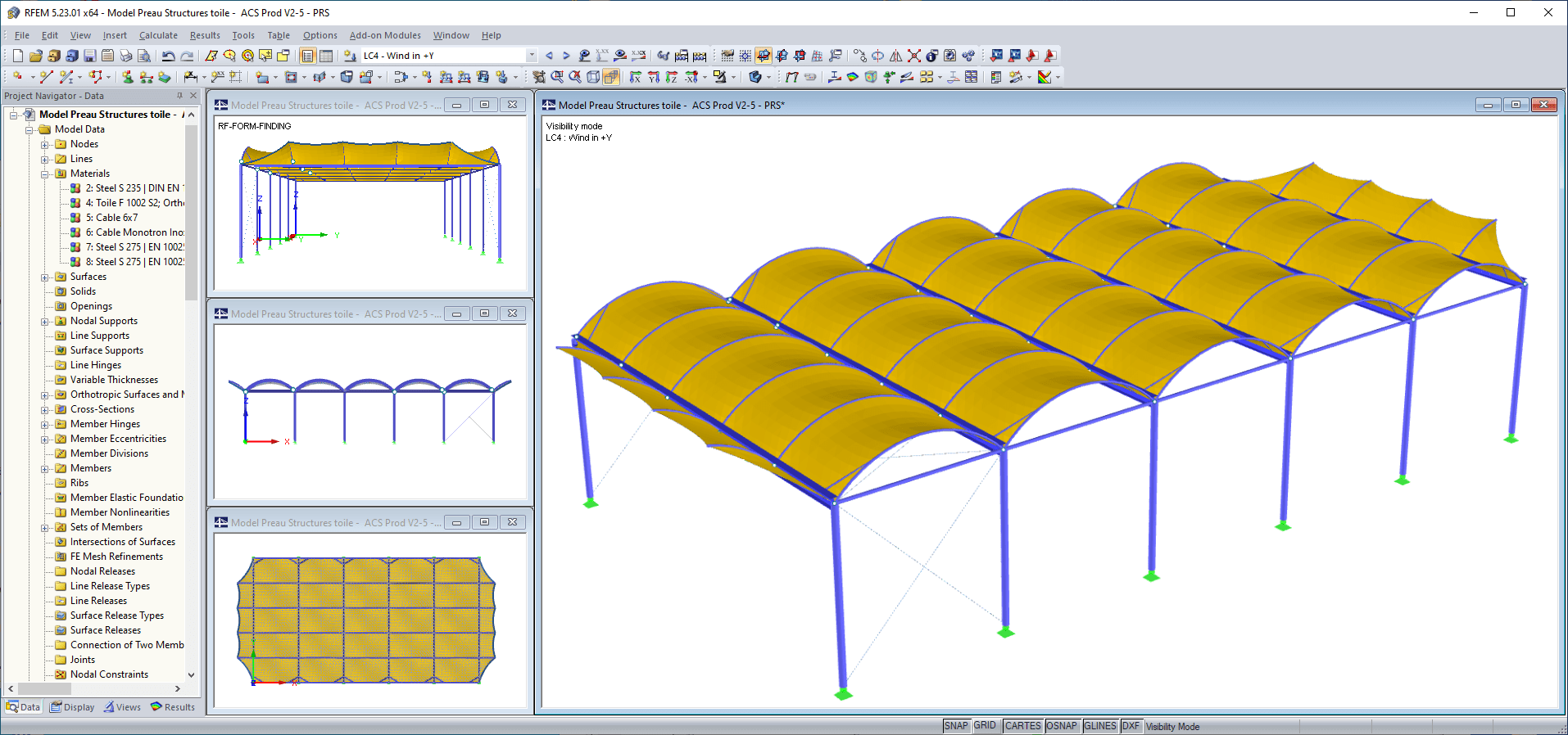 Roof model in RFEM (© AC Structures)