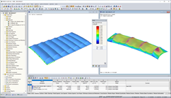 RFEM Model of a tennis court roofing (© ACS Production)