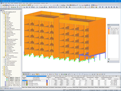 Residential Building 3D Model in RFEM (© Egoin)