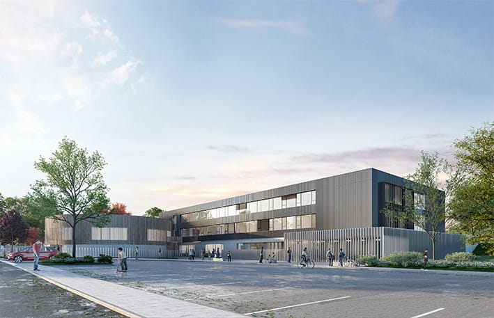 Architect's View of Marie Curie College in Fontoy (© KL Architectes - Bagard & Luron)