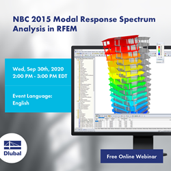 NBC 2015 Modal Response Spectrum Analysis in RFEM