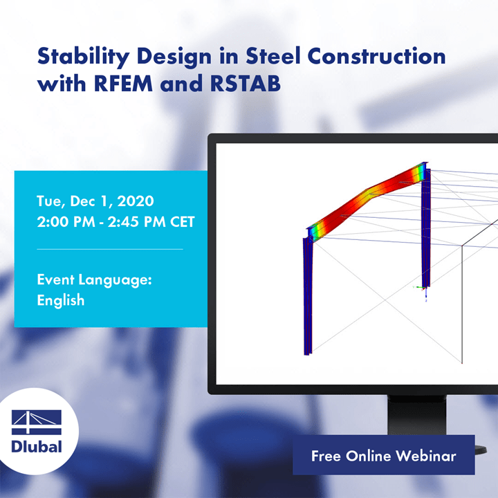 Stability Design in Steel Construction with RFEM and RSTAB