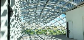 Steel-Glass Dome Interior View (© Octatube)