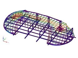 Steel Dome Structure RFEM Deformation (© Octatube)