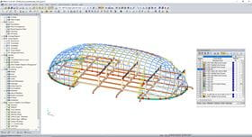 Steel Dome Structure RFEM Model (© Octatube)