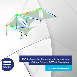 FEA Software for Membrane Structures incl. Cutting Patterns & Wind Simulation