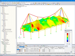 RFEM Model with Form-Finding Internal Forces (© www. leichtonline.com)