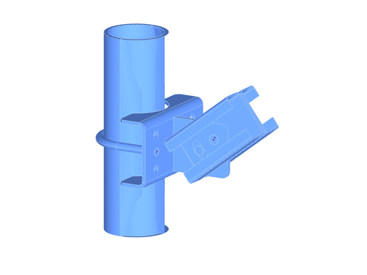 Steel Connection Modeled with Solid Elements