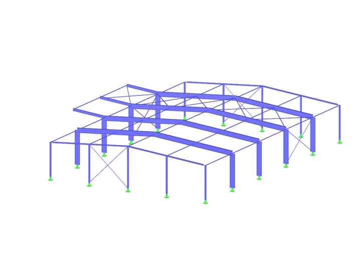 Steel Structure Hall with Cold-Formed Steel Sections
