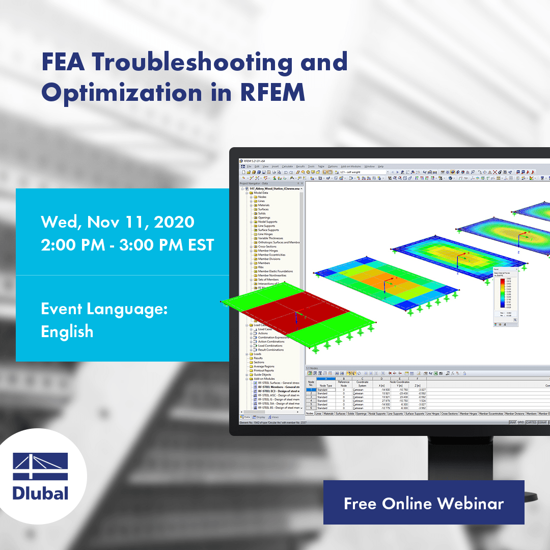 FEA debugging and optimization in RFEM
