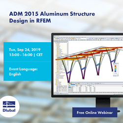 ADM 2015 Aluminum Structure Design in RFEM