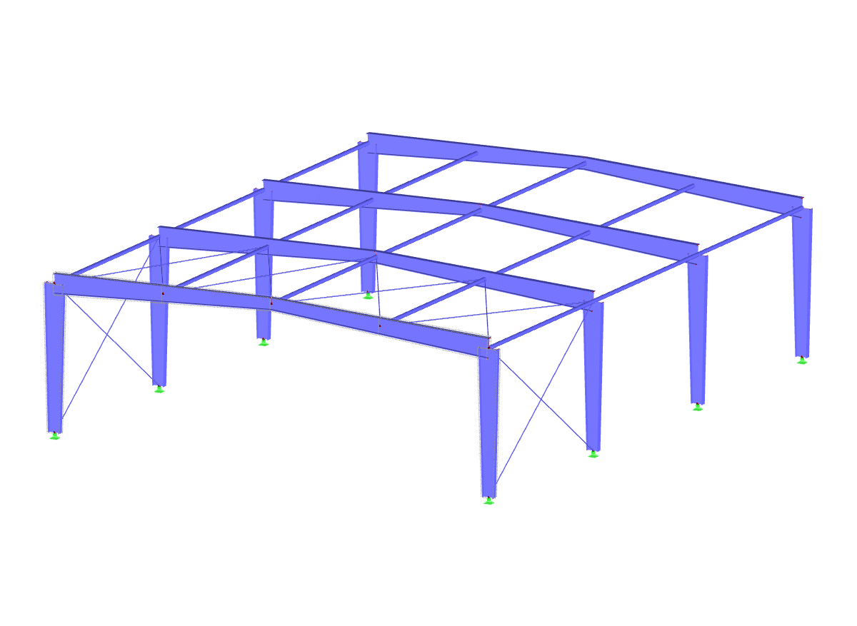 Supporting structure with tapered frame