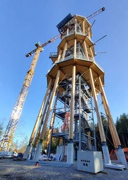 Look-out Tower in Schömberg During Construction (© Ingenieurbüro Braun GmbH & Co. KG)